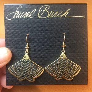 NWT Laurel Burch Flying Fish Earrings